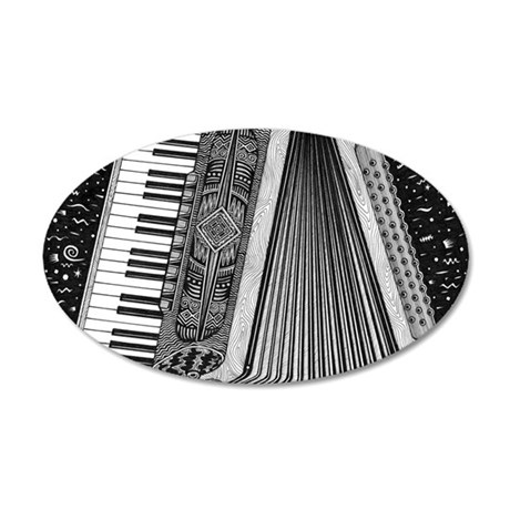 Accordion 35x21 Oval Wall Decal
