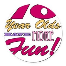 Fun 70th Birthday Gifts Round Car Magnet