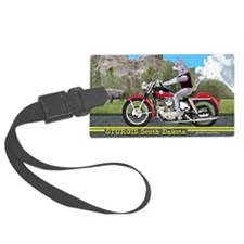 Siberian Husky Riding Harley in  Luggage Tag