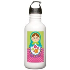 Adorable Russian Doll  Sports Water Bottle