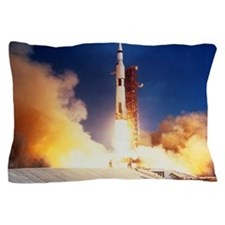 Launch of Apollo 11 spacecraft en rout Pillow Case