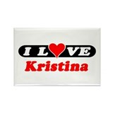 I Love Kristina Rectangle Magnet (10 pack)
