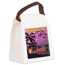 Sweeping Palms Cafe Canvas Lunch Bag