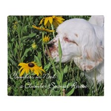 Clumber Spaniel Wall Calendar Throw Blanket