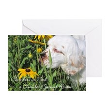 Clumber Spaniel Wall Calendar Greeting Card