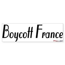 Boycott France BumperBumper Sticker