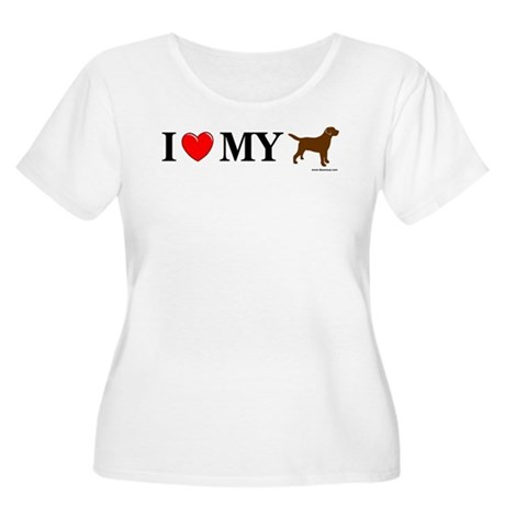 Love My Chocolate Lab Women's Plus Size Scoop Neck