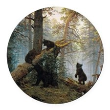 Ivan Shishkin Morning In A Pine F Round Car Magnet
