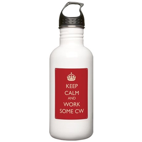 Keep calm and work som Stainless Water Bottle 1.0L