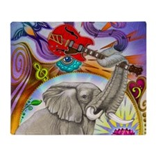 Musical Elephant Throw Blanket
