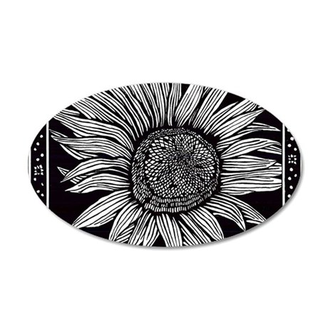 Sunflower 35x21 Oval Wall Decal