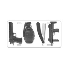 Weapons Of Love Funny T-Shi Aluminum License Plate