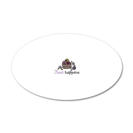 Knit Happens 20x12 Oval Wall Decal