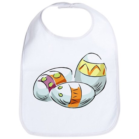 Pretty Easter Eggs Bib