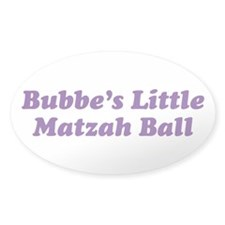 Little Matzah Ball Oval Decal