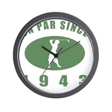 1943 Golfers Birthday Wall Clock