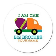 Cement Mixer Big Brother Round Car Magnet