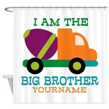 Cement Mixer Big Brother Shower Curtain