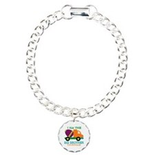Cement Mixer Big Brother Charm Bracelet, One Charm