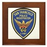SFPD Negotiator Framed Tile