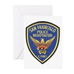 SFPD Negotiator Greeting Cards (Pk of 10)