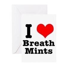 I Heart (Love) Breath Mints Greeting Cards (Packag