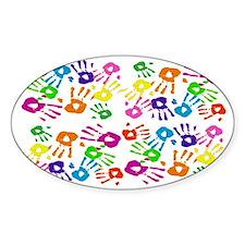 area rug handprints Decal