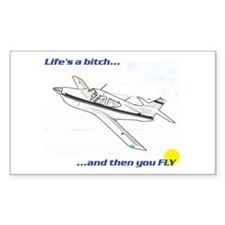 Fly! Rockwell Commander Rectangle Decal