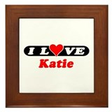 I Love Katie Framed Tile