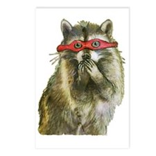 Naughty Raccoon Postcards (Package of 8)
