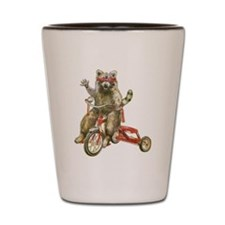 Raccoon Biker Gang Shot Glass