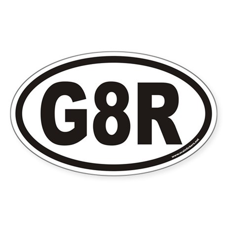 G8R Euro Oval Sticker