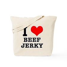 I Heart (Love) Beef Jerky Tote Bag