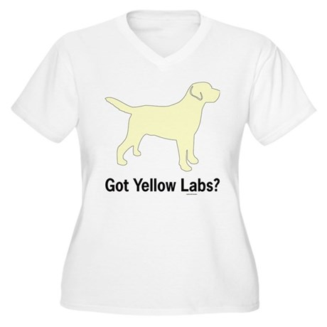 Got Yellow Labs II Women's Plus Size V-Neck T-Shir