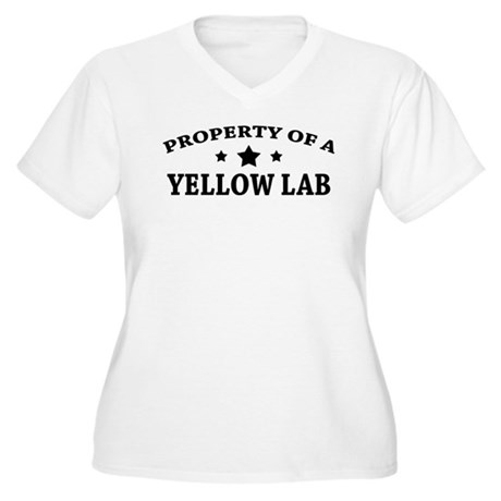 Property of a Yellow Lab Women's Plus Size V-Neck