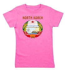 North Korea Coat Of Arms Girl's Tee
