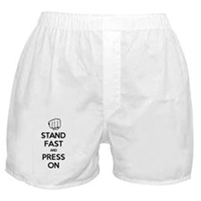 Stand Fast and Press On (WHITE) Boxer Shorts