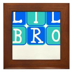 Lil Bro (Blue/Green) Framed Tile