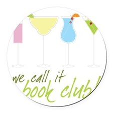 Book Club Round Car Magnet