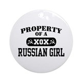 Property of a Russian Girl Ornament (Round)