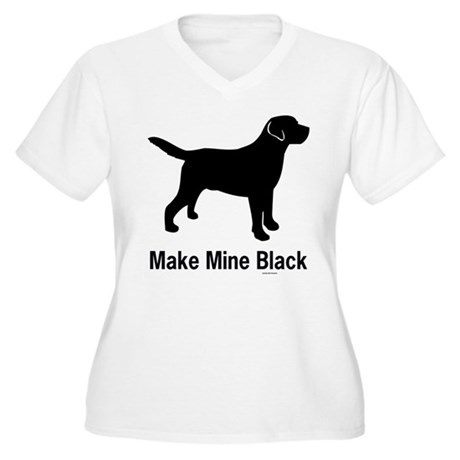 Make Mine Black Women's Plus Size V-Neck T-Shirt