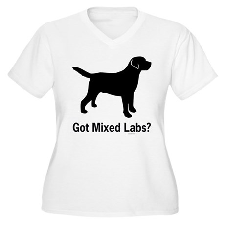 Got Mixed Labs II Women's Plus Size V-Neck T-Shirt