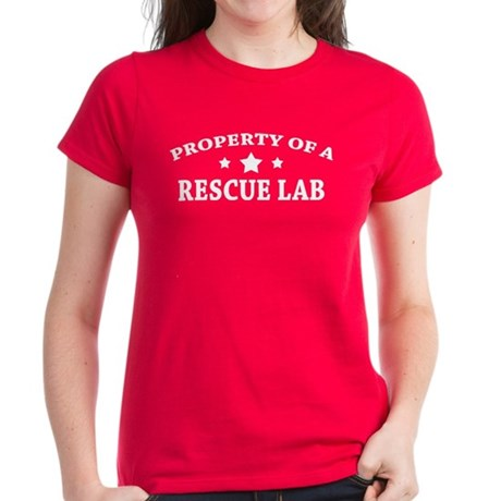 Property of a Rescue Lab Women's Dark T-Shirt