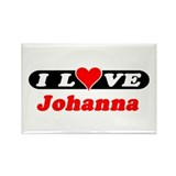 I Love Johanna Rectangle Magnet