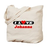 I Love Johanna Tote Bag
