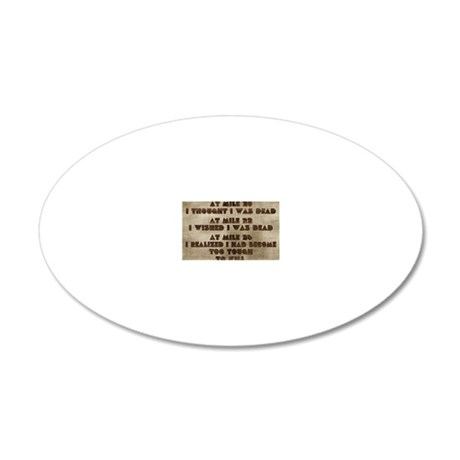 card at mile 20 20x12 Oval Wall Decal