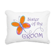 Sister of the Groom Rectangular Canvas Pillow