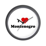 I Love Montenegro Wall Clock