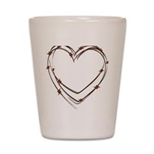 Barbed Wire Heart Shot Glass