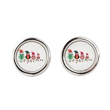 Christmas Blossom Owls Cufflinks